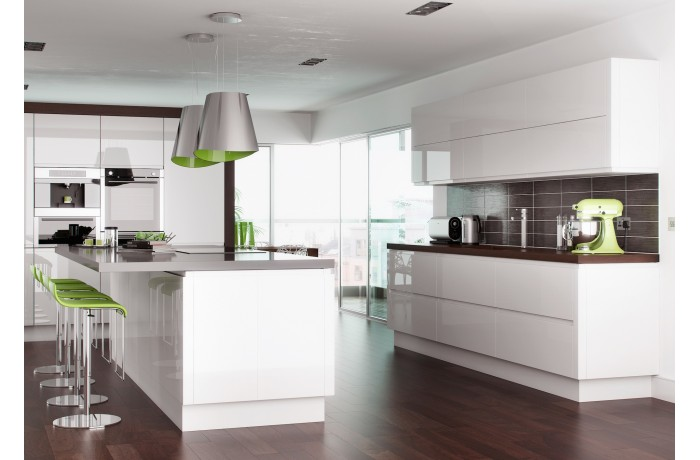 Lucente White High Gloss Kyme Kitchens