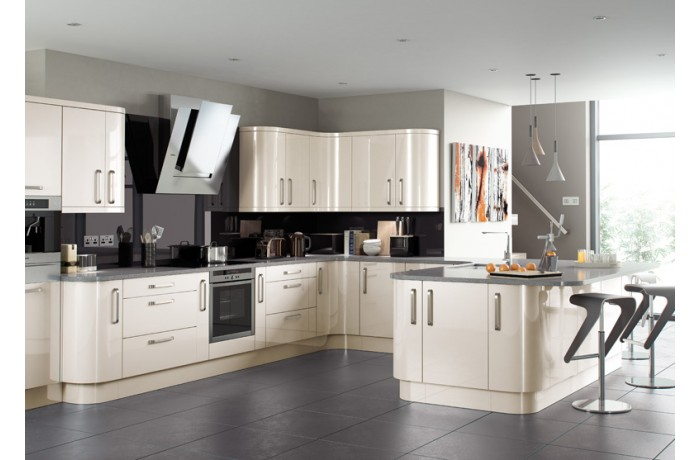 Lusso Cream Gloss Kyme Kitchens